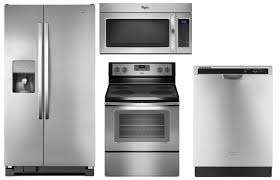Kitchen Appliances Packages - stainless steel appliance suite package whirlpool
