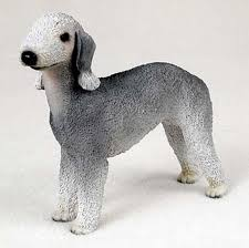 bedlington terrier painted collectible figurine