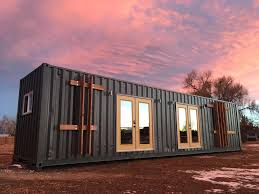 the intellectual u0027 tiny home is a 40 foot container loaded with
