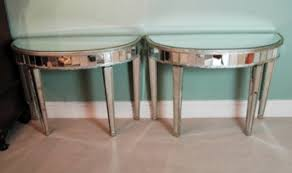 half oval console table half moon mirrored console table interior design ideas cannbe com