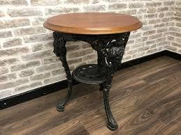 cast iron britannia bar pub table u2013 rusty nail ltd