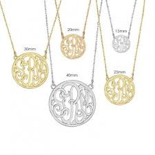 Monogram Necklaces Monogram Necklaces Treasures U0026 Blooming Boutique Too