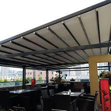 outdoor wind resistance waterproof aluminium pvc retractable
