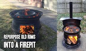 Old Fire Pit - repurpose old rims into a firepit u2013 iseeidoimake