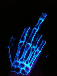 7 amazing skeleton black light tattoos