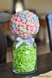 Candy Vases Centerpieces Simple Candy Buffet From The Committed Heart