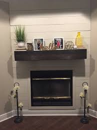 dark walnut fireplace mantle rugged wood mantel floating