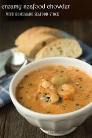 Lobster Bisque Recipe Creamy Seafood Chowder W Homemade Seafood Stock Its Yummi