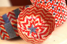how to make 4th of july paper mache bowls youtube