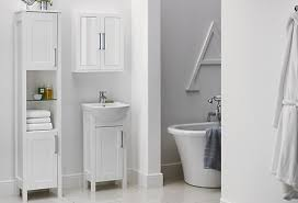 Bq White Vanity Unit Basin Departments Diy At Bq Bathroom - White cabinets for bathroom