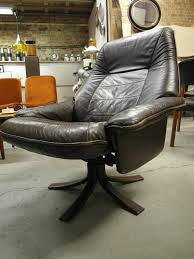 retro swivel chairs the retrobarn vintage scandinavian brown leather reclining