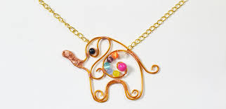 wire jewelry necklace images How to make a cute gold wire wrapped elephant pendent necklace 5 jpg