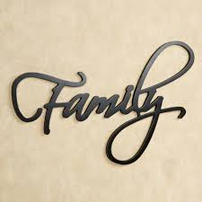 Home Decor Family Signs Wall Art Design Ideas Word Sign Large Family Metal Wall Art Home
