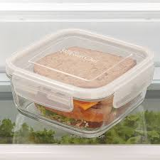 Cup Storage Containers - 3 cup leakproof glass container shop pampered chef us site