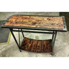 Metal Entry Table Industrial Entry Table Made From Reclaimed Wood And Metal