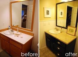 Powder Room Remodel Powder Room Remodel Painting Vanity Cabinet Ruby Redesign