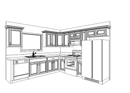 kitchen cabinet design drawing