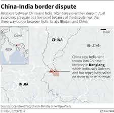 Map Of Nepal And China by China India Border Confrontation Business Insider