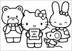 kitty driving car kitty coloring pages