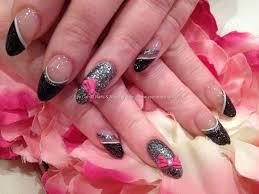 eye candy nails u0026 training black glitter polish tips with grey