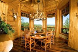 rustic dining room with high ceiling u0026 columns in grants pass or