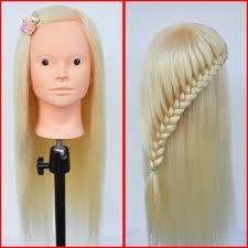 2017 professional hairdressing head 100 yaki fiber hair maniquies
