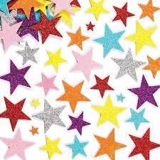 glitter foam stickers