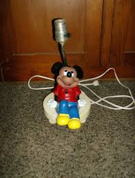 mickey mouse table lamp walt disney 1960 u0027s from marysmenagerie