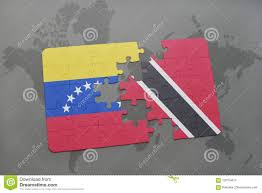Flag For Trinidad And Tobago Puzzle With The National Flag Of Venezuela And Trinidad And Tobago