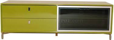 tv stand glass door green high gloss finish modern tv stand w pull down glass door