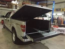 Ford F150 Truck Covers - light grey 2014 ford f150 getting installation of leer 700 tonneau