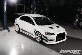 white mitsubishi lancer 2008 mitsubishi lancer evolution x cz4a import tuner magazine