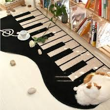 Guitar Rugs New Black Keyboard Area Rug Piano Music Note Rugs Carpet Giant