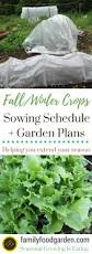 fall and winter gardening sowing schedule and garden plans