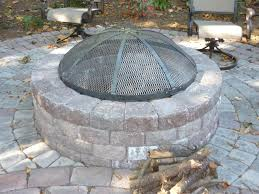 Firepit Screen Bathroom Outdoor Fireplace Screens With Custom Outdoor Pit