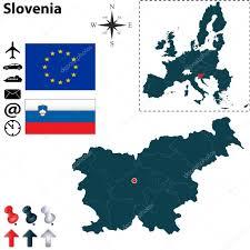 European Union Map Map Of Slovenia With European Union U2014 Stock Vector Sateda 38394187
