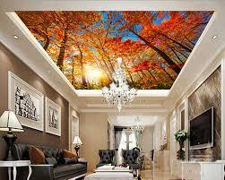 3d murals online shop custom 3d murals autumn maple tree suspended ceiling