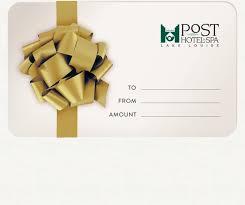 hotel gift certificates lake louise hotel spa gift certificates the post hotel