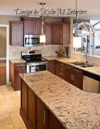 Kitchen Tile Backsplash Ideas by Kitchen Travertine Floor Dark Caninet Backsplash Dark Maple
