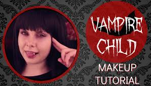 halloween makeup tutorial cute anime vampire child nicola jane