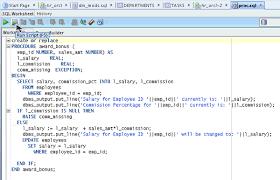 tutorial oracle stored procedure testing and debugging procedures using sql developer