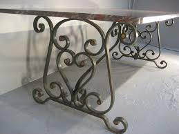 wrought iron dining table glass top interior marvelous wrought iron dining table base 22 1900 s french
