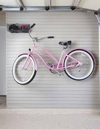 garage slatwall with pink bike garage ideas pinterest garage
