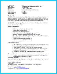 Sample Resume For Banking Operations by Learning To Write From A Concise Bank Teller Resume Sample