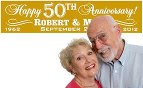 wedding banner sayings milestone wedding anniversary banners 25th 50th 60th