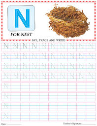 capital letter writing practice worksheet alphabet n download