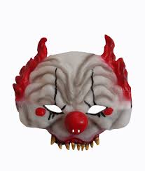 scary unisex horror clown face mask halloween circus fancy