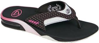 reef fanning flip flops womens reef fanning women s sandal brown pink dots for sale at