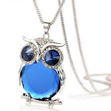 long necklace pendant images Women owl pendant diamond sweater chain long necklace jewelry bu jpeg