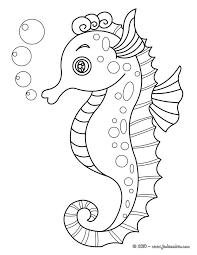 Coloriages Hippocampes  Coloriages  Coloriage à imprimer gratuit